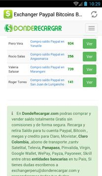 Exchanger Peru Bitcoin Paypal apk screenshot