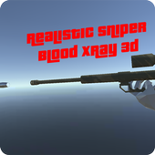 Realistic Sniper Blood Xray 3d icon