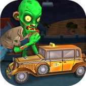 Spooky Zombie Town Car Race icon