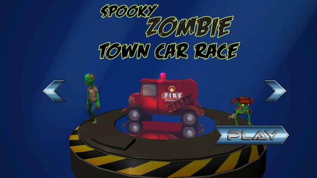 Spooky Zombie Town Car Race poster