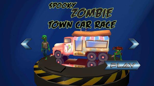 Spooky Zombie Town Car Race screenshot 1