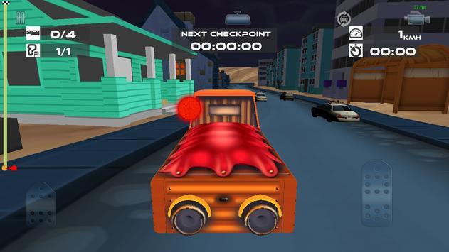 Spooky Zombie Town Car Race screenshot 4