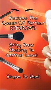 Eyebrow Editor Makeup App poster