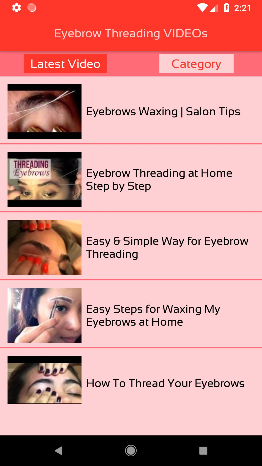 Eyebrow Threading VIDEOs for Android - APK Download
