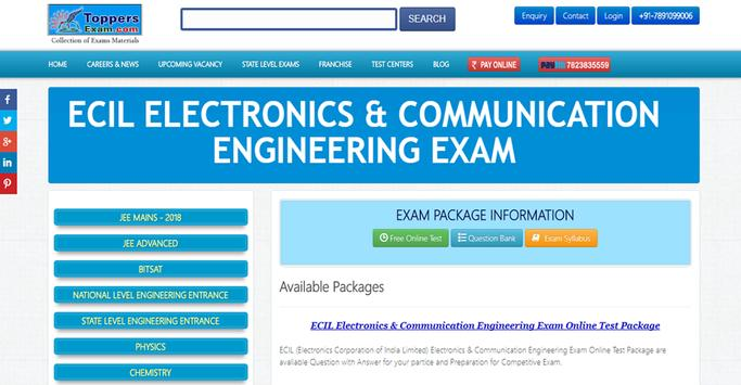ECIL ELECTRONICS & COMMUNICATION ENGINEERING EXAM poster