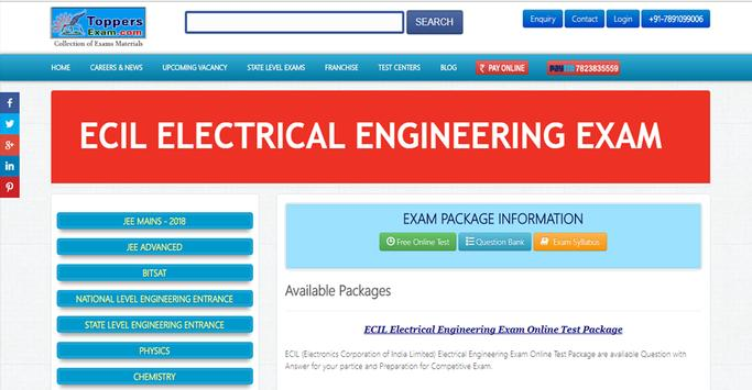 ECIL ELECTRICAL ENGINEERING EXAM FREE Online Mock poster