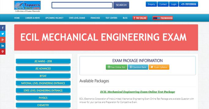 ECIL MECHANICAL ENGINEERING EXAM FREE Online Mock poster