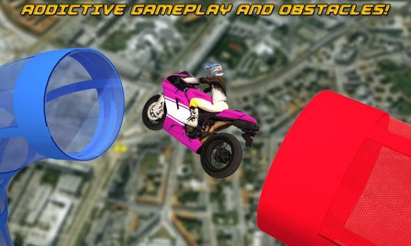 GT moto rider stunts 3D poster