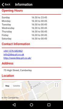 BBQ Pit Restaurant Camberley apk screenshot