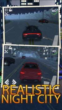 Night City Traffic Car Driving poster