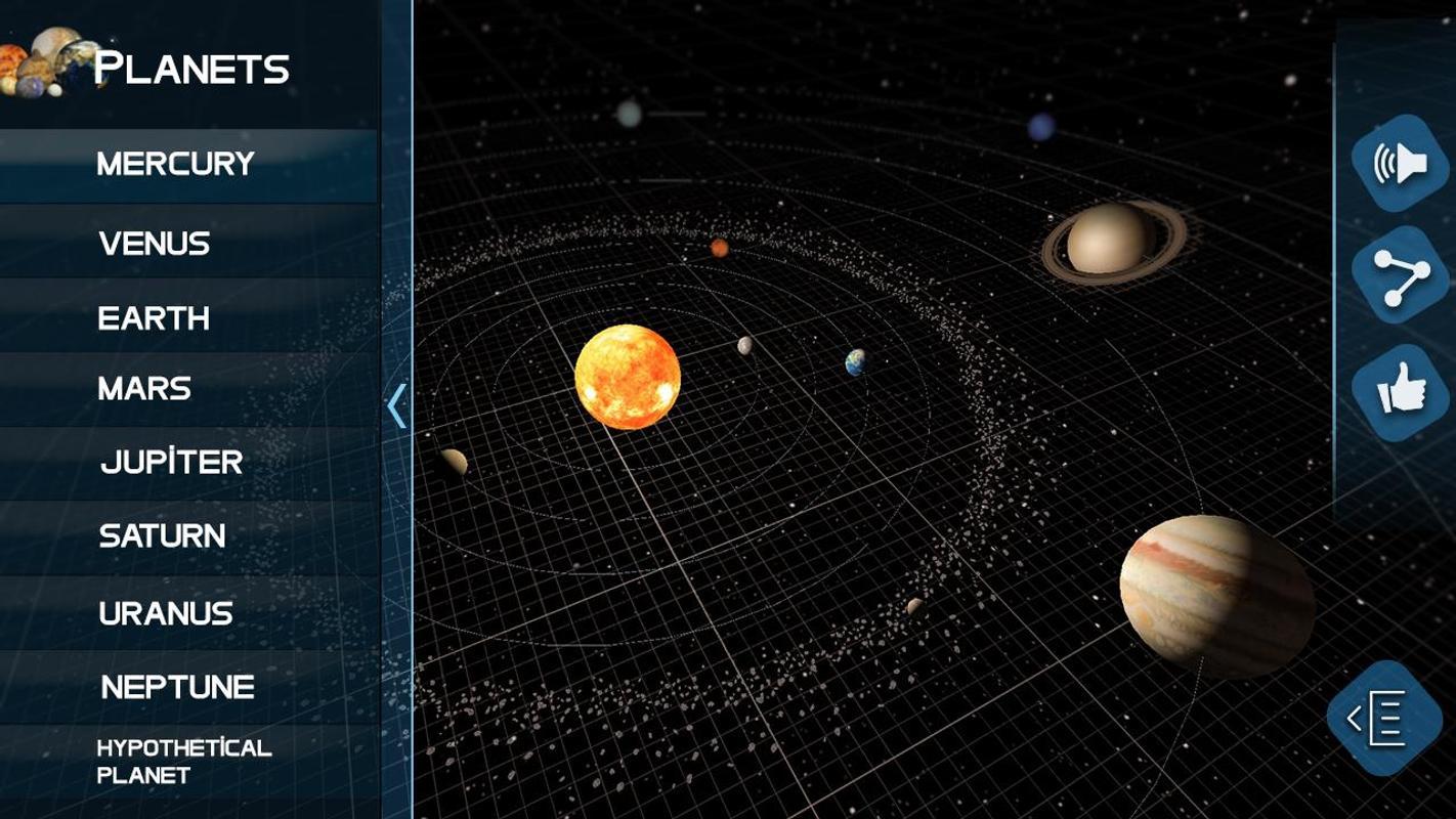 Solar system planet:  3D Universe Simulator