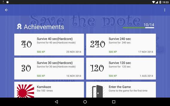 Save the mote apk screenshot