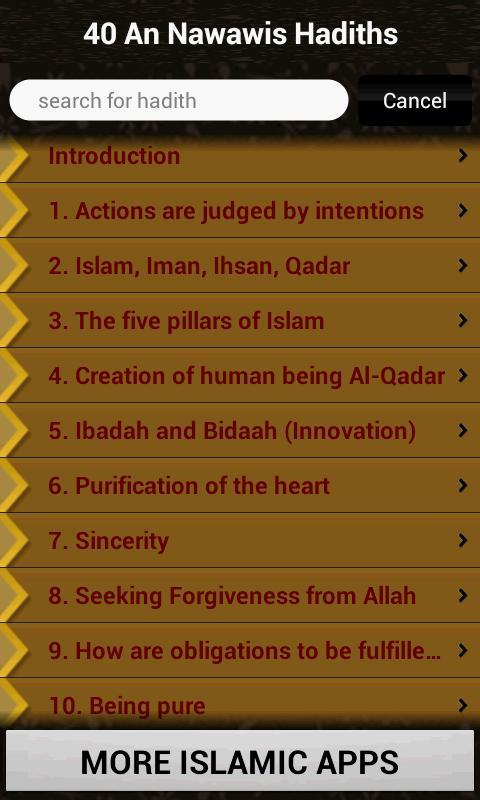 40 An Nawawis Hadiths (Islam) for Android - APK Download