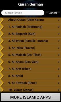 Quran German apk screenshot