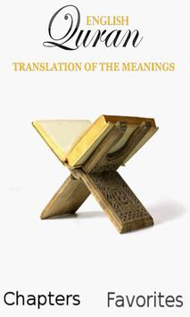 Quran - English Translation poster
