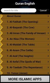 Quran - English Translation apk screenshot