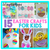 Easter crafts icon
