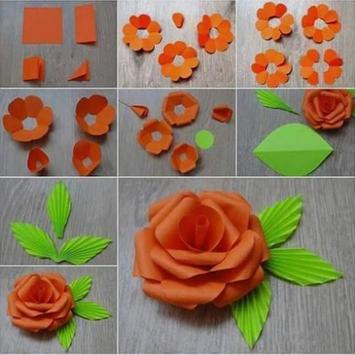 Easy create paper flower poster