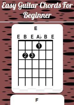 Easy Guitar Chords For Beginner poster