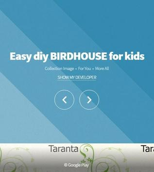 Easy diy BIRDHOUSE for kids poster