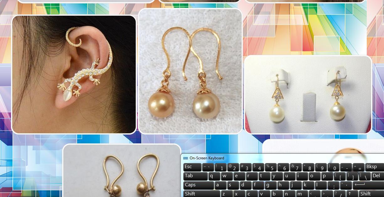 Earrings Design poster