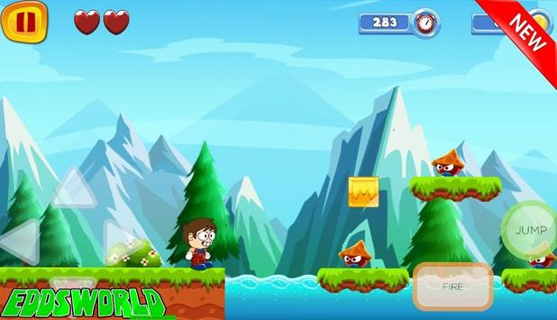 Super Edds Jungle Adventure Game world apk screenshot