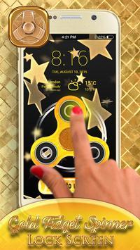 Gold Fidget Spinner Lock Screen screenshot 4