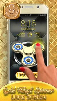 Gold Fidget Spinner Lock Screen screenshot 5