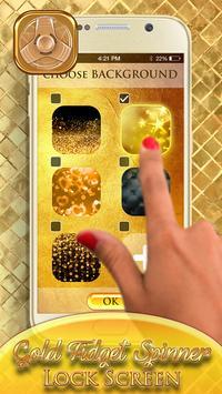 Gold Fidget Spinner Lock Screen screenshot 1