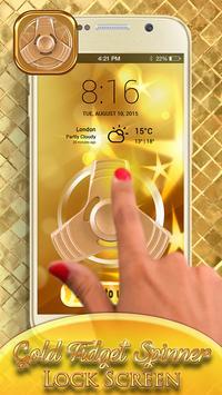 Gold Fidget Spinner Lock Screen apk screenshot