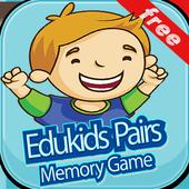 Edukids Pairs Memory Game icon