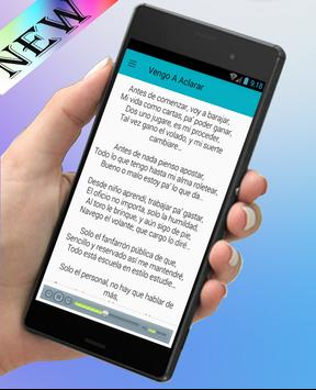 El Fantasma-Nuevo Musica y Letras(Vengo A Aclarar) apk screenshot