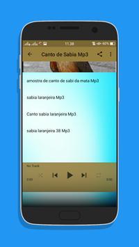 Canto de Sabia Top Mp3 screenshot 3
