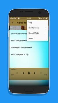 Canto de Sabia Top Mp3 screenshot 4