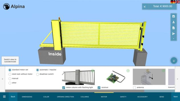Falken Gate Configurator screenshot 3