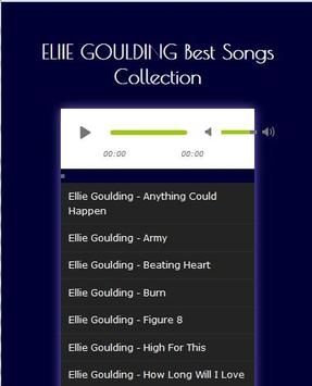 ELLIE GOULDING Best Songs Hits apk screenshot