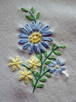 Embroidery Stitch Pattern poster