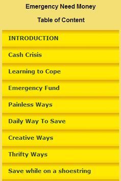 Emergency Need Money poster