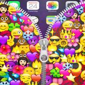 Emojis Zipper Lock Screen icon