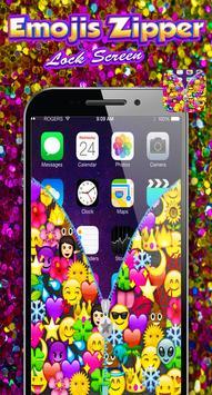Emojis Zipper Lock Screen screenshot 1