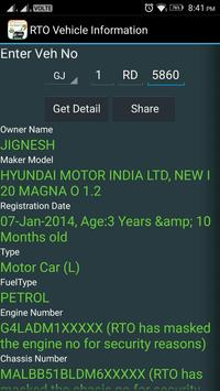 RTO Vehicle Information screenshot 2
