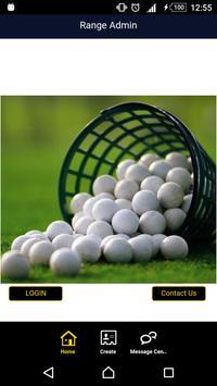 Golf Range Admin poster