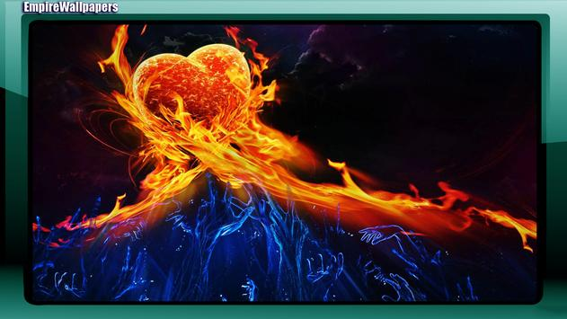 Fire And Ice Wallpaper poster