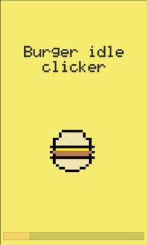 Burger idle clicker poster
