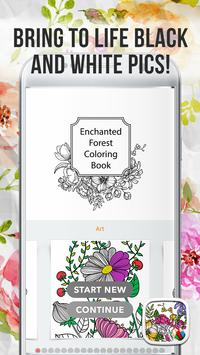 Enchanted Forest Coloring Book Poster
