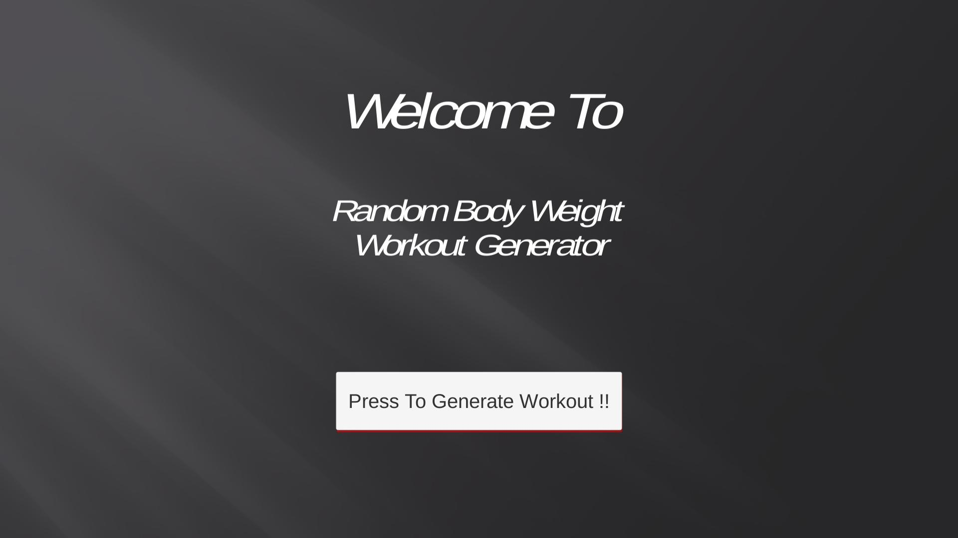 Random Body Weight for Android - APK Download