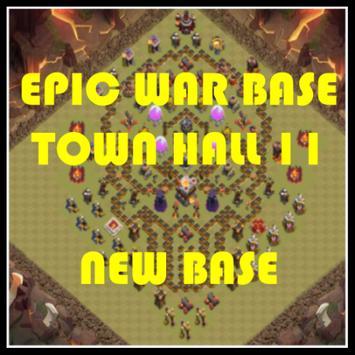 Epic War Base Town Hall 11 poster