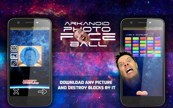 Arkanoid Photo Face Ball poster