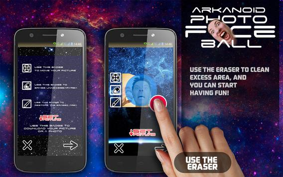 Arkanoid Photo Face Ball apk screenshot