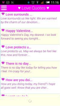 ♥ 15000+ Love SMS Messages ♥ apk screenshot